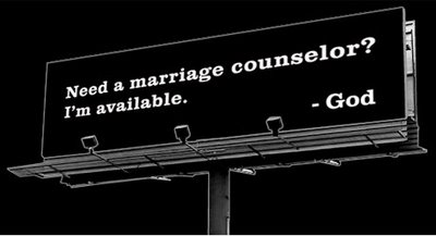 God Speaks Marriage Counselor billboard